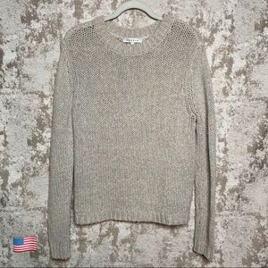 Sandro Grey & Multicolored Marled Knit Sweater